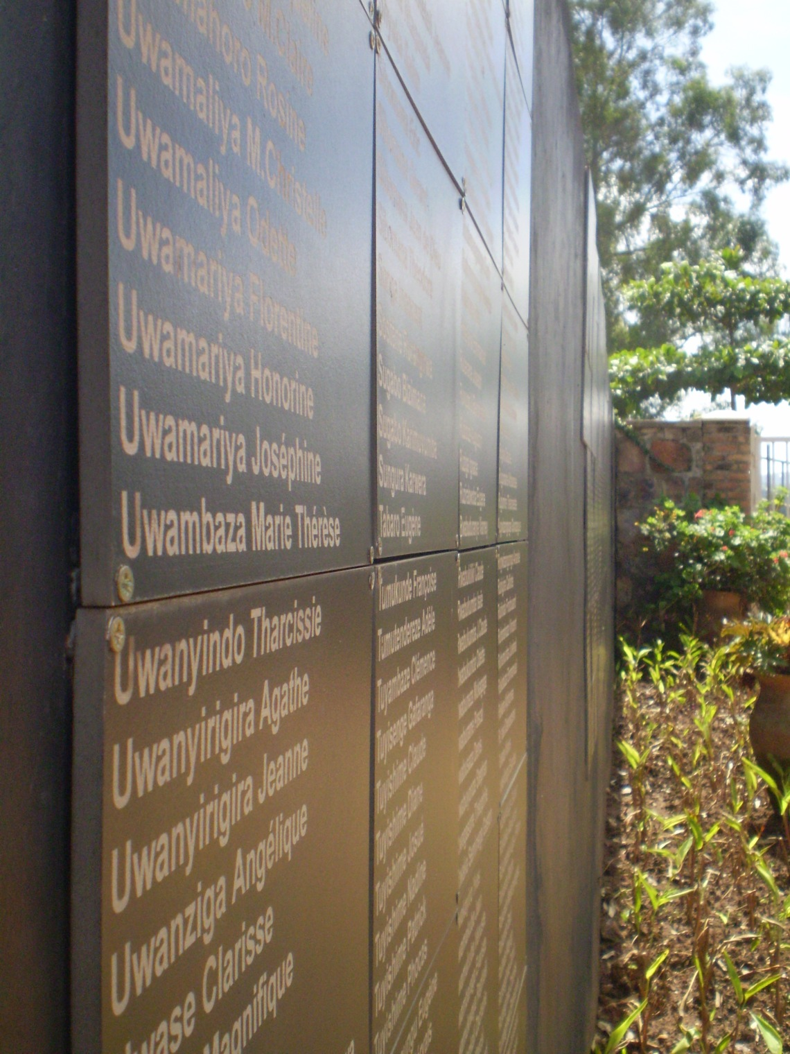 The Wall of Names, Kigali, Genocide Memorial