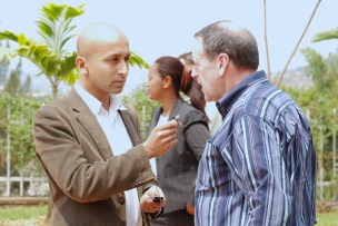Interviewing Governer Mick Huckabee, politician
