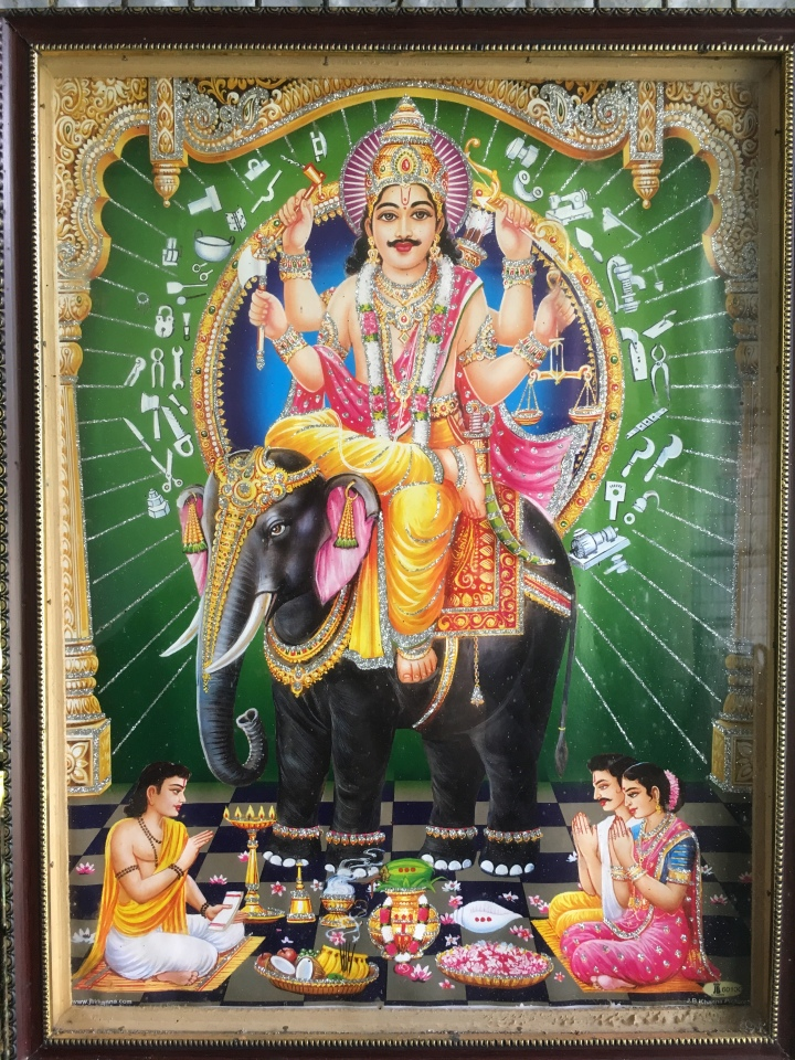 Vishwa karman Hindu god of machinery