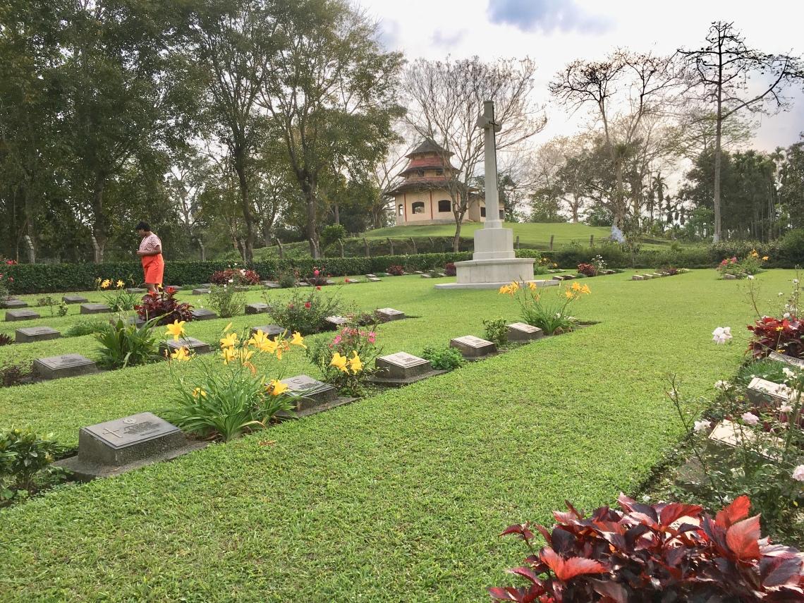 The War Cemetery in Digboi, Assam, India