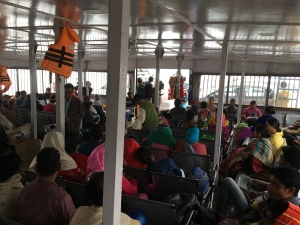 Ferry to Majuli from Nimati Ghat, Assam, India