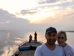On a country boat on the Brahmaputra, Majuli, Assam