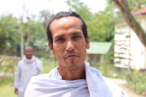 A monk in Majuli, Assam