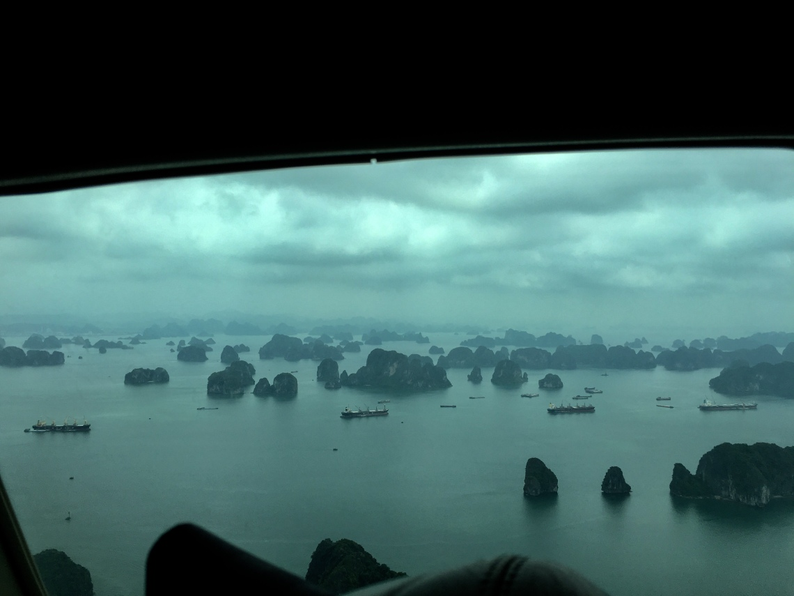 Flying to Halong Bay, Vietnam