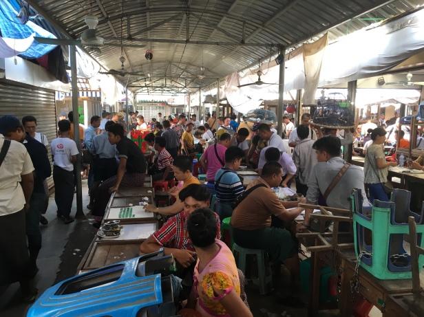 The jade market in Mandalay, Myanmar