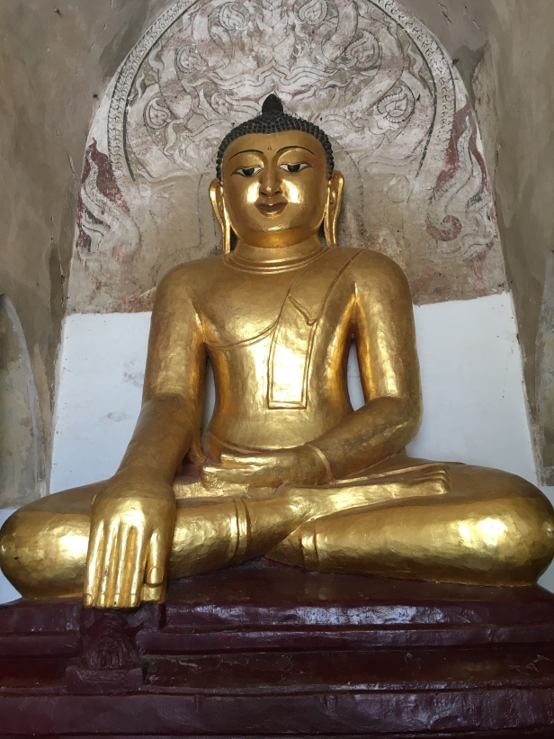A Buddha statue in Bagan, Myanmar