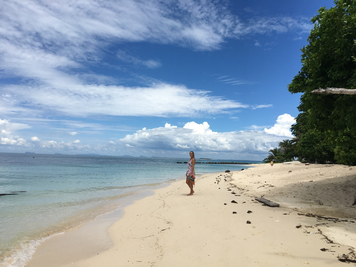 A beach on Selingan Island near Borneo