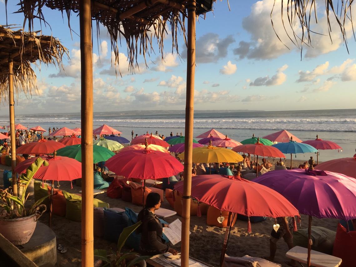 Kuta Beach, Seminyak Bali, umbrellas